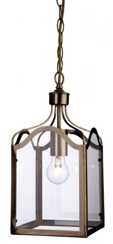 Firstlight 8637AB Antique Brass with Clear Glass Monarch Lantern - 1 Light
